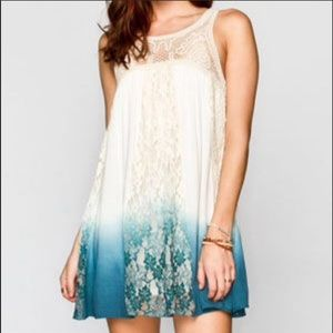 Ombré blue lace dress